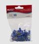 Terminal Luva Fêmea 6mm Isolado Azul pacote com 50 Mister