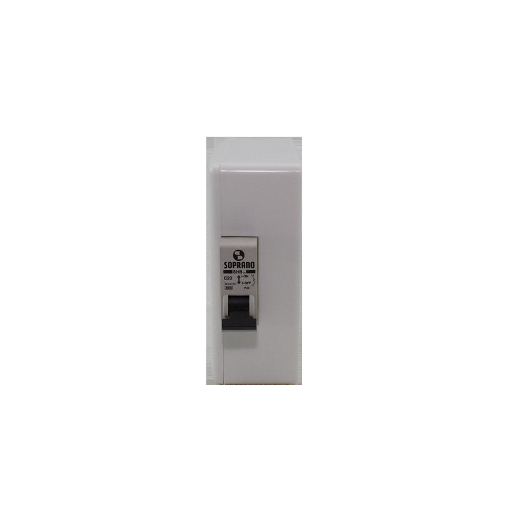 Caixa para Tomada com Disjuntor 16 Amperes Soprano