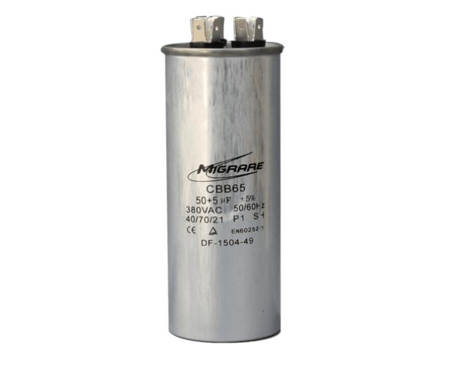 Capacitor 50 + 2,5 UF 380V Alumínio