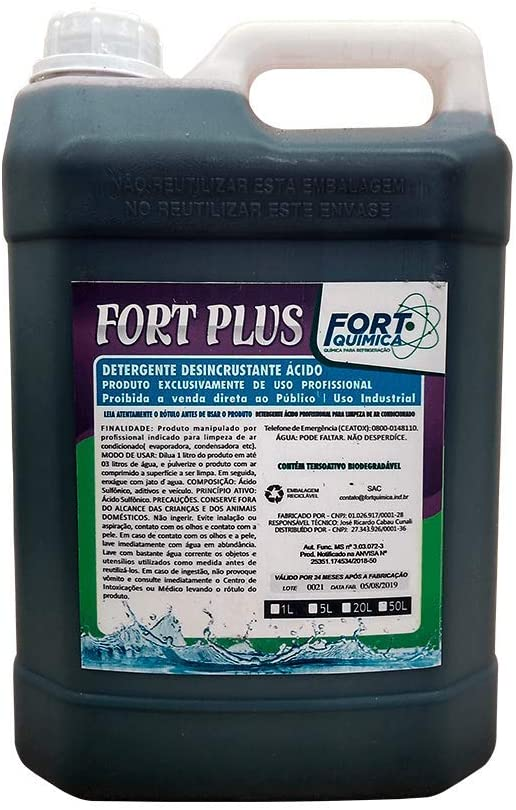 Detergente Acido Fort Plus 5 Litros
