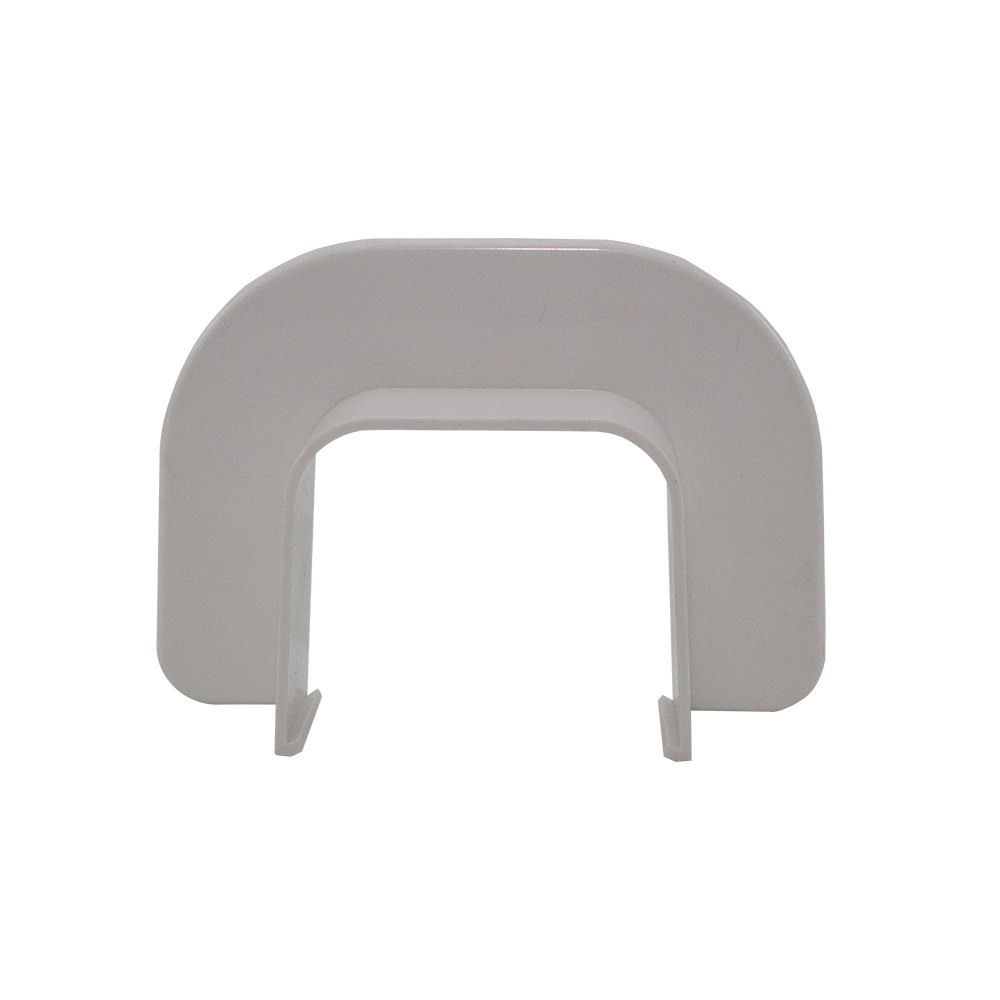 Passagem Parede Retangular Canaleta Split Branca