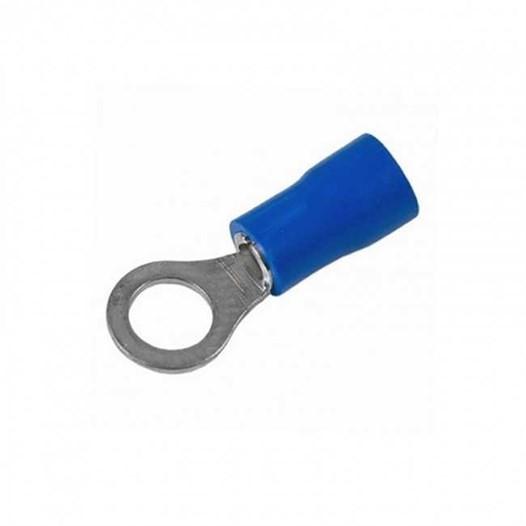 Terminal Anel 2,5mm Isolado Azul Pacote com 50 peças
