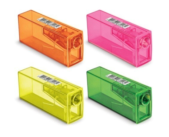 Apontador Faber com Deposito Neon (25 Unidades) - Faber Castell
