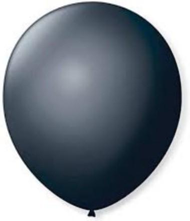Balão Liso 7,0 Imperial PRETO EBANO (50 Unidades) - São Roque
