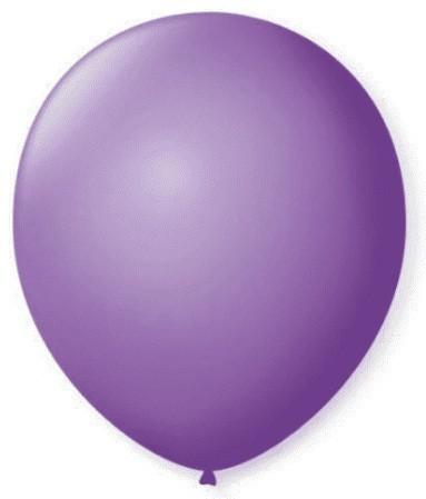 Balão Liso 7,0 Imperial ROXO AMESTISTA (50 Unidades) - São Roque