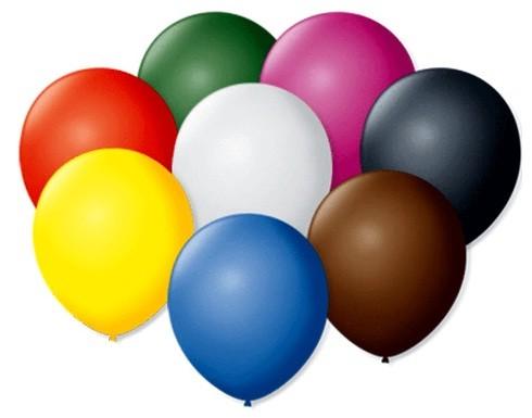 Balão Liso 7,0 Imperial Sortido (50 Unidades) - São Roque