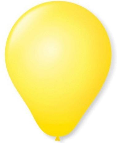 Balão Liso Basic 6,5 AMARELO (50 Unidades) - São Roque
