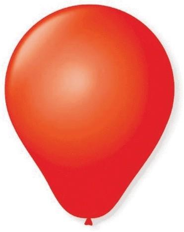 Balão Liso Basic 6,5 VERMELHO (50 Unidades) - São Roque