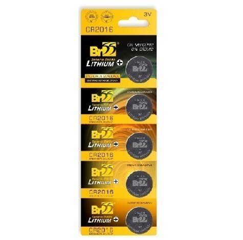 Bateria 3V Litio CR2016  - BR55 (5 Unidades)
