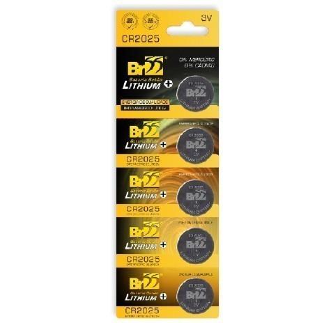 Bateria 3V Litio CR2025 - BR55 (5 Unidades)