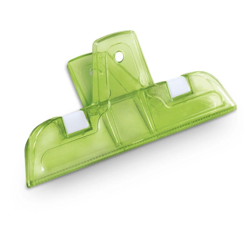 Kit 2 Prendedor Alimento Big Lock 10cm Poliestireno Verde