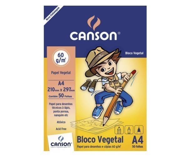 Bloco de Papel Vegetal A4 60g - Canson