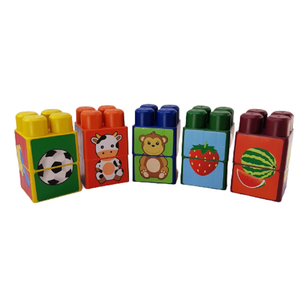 Blocos De Encaixe Primeira Infância 10 peças G - Maxi Toys