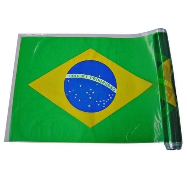 Plástico para Encapar - Bobina - Bandeira do Brasil