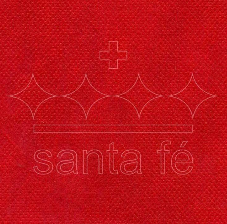 Bobina TNT com 1.40x50m VERMELHO - Santa Fé