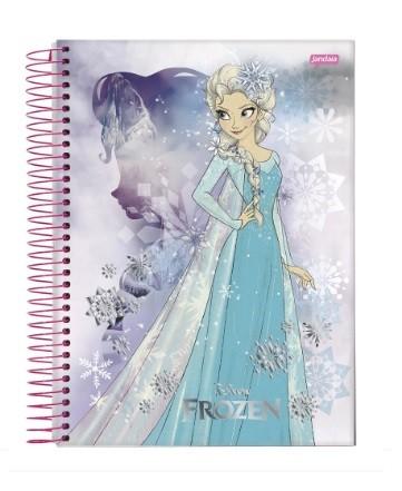 Caderno Espiral C.D 1 x 1 96 Folhas Frozen PT/4