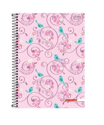 Caderno Espiral C.D 1 x 1 96 Folhas Mais Fem. PT/4