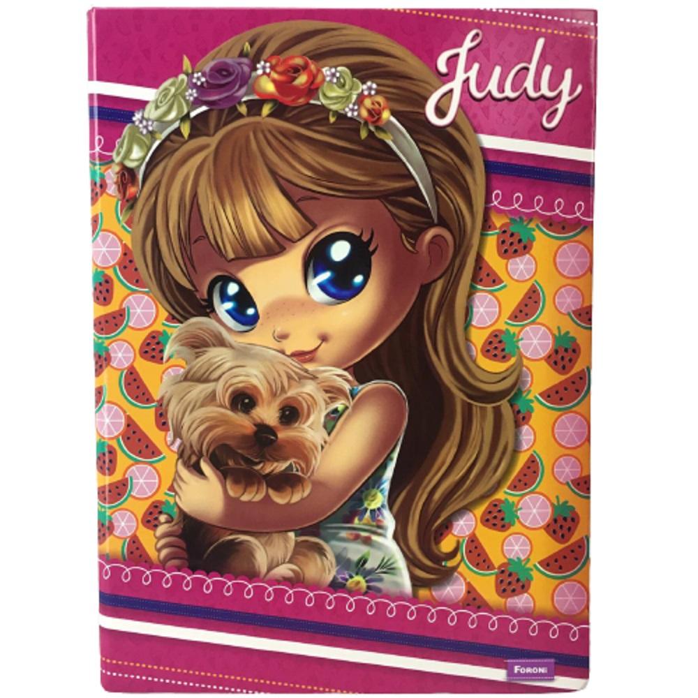 Caderno Brochura C.D. - Judy  96 Folhas - Foroni