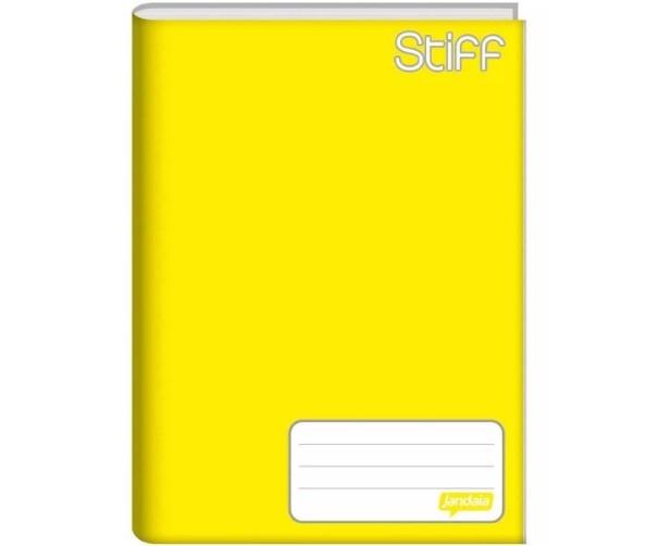 Caderno Costurado 1/4 96 Folhas. Amarelo - Pacote com 5 - 14 x 20cm