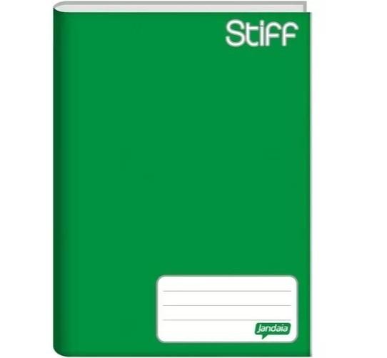 Caderno Brochura 1/4 - Capa Dura - Matéria Verde 48 Folhas - Jandaia - 14 x 20cm