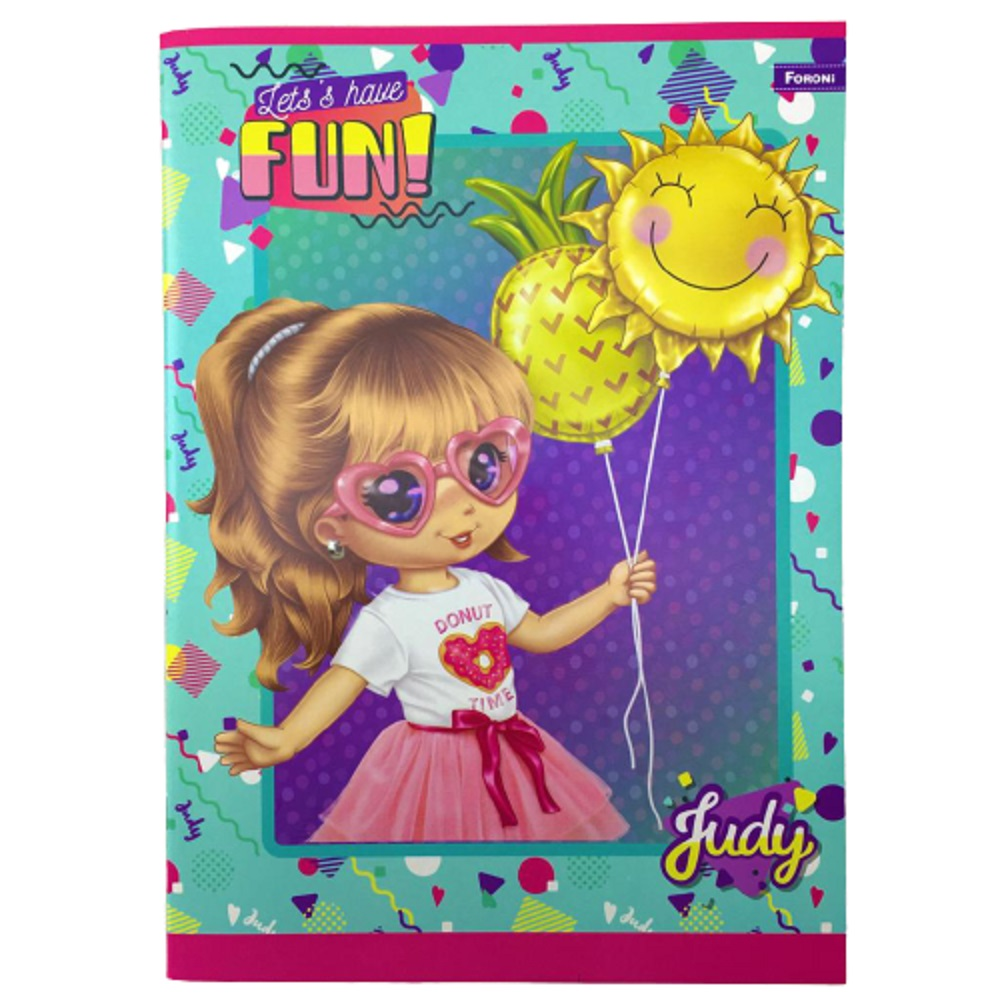Caderno Brochurão Capa flexível - Judy 60 Folhas - Foroni