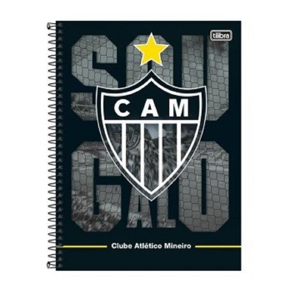 Caderno Espiral C.D 10 x 1 200 Folhas Atlético PT/4