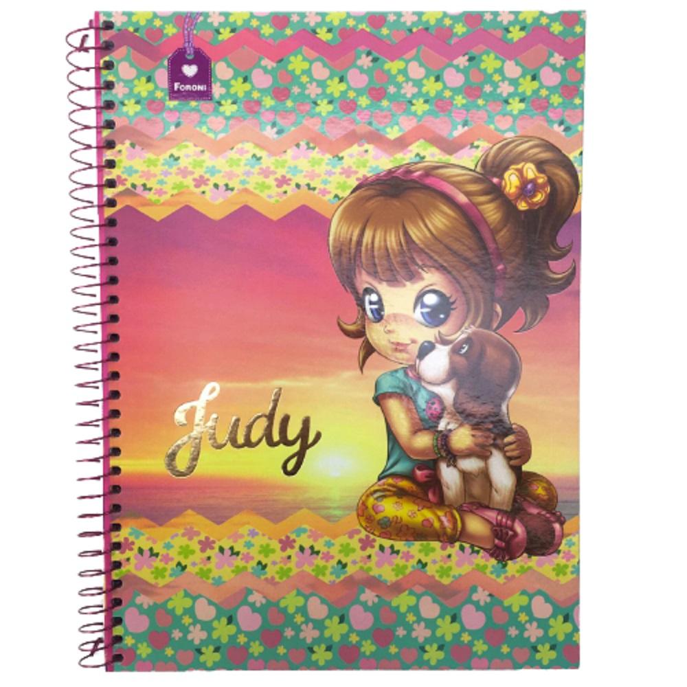 Caderno Espiral C.D. 1 Matéria Judy 96 Folhas - Foroni
