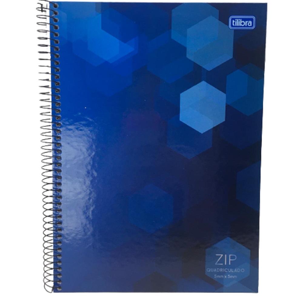 Caderno Espiral C.D 1X1 80 Folhas Quadriculado Zip PT/4