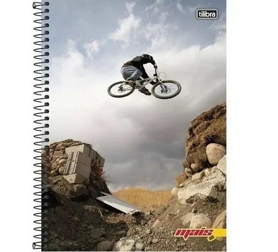 Caderno Espiral C.D. 10 Matérias Mais Masc. 200 Folhas - Tilibra
