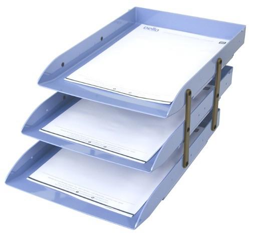 Caixa Correspondência Articulável Tripla AZUL - Dello