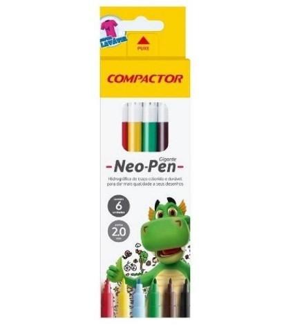 Caneta Hidrografica Neo Pen Gigante - Cores -  PT 5  - Compactor (5 Unidades)