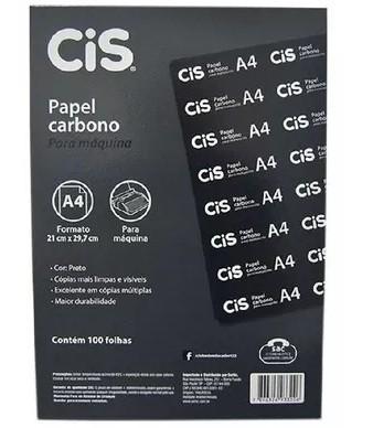 Papel Carbono A4 PRETO - 100 Folhas - Cis