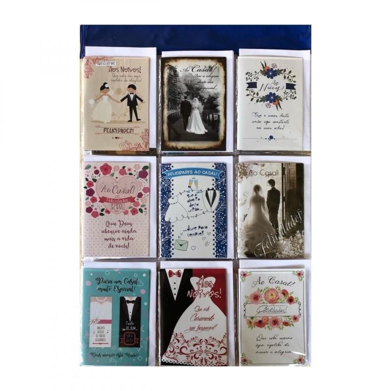 Cartão de Mensagem para Casamento - Bello Cards (27 Unidades)