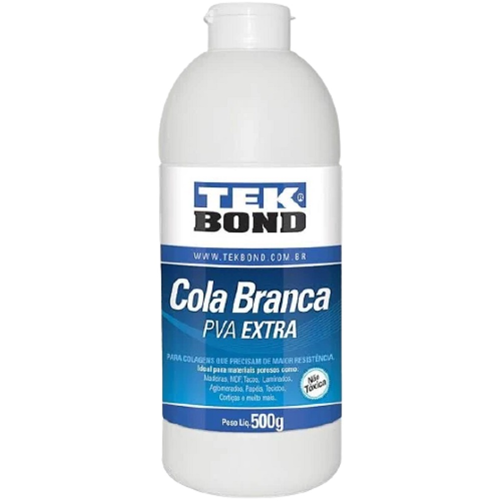 Cola Branca Pva Extra para Artesanato 500g TekBond