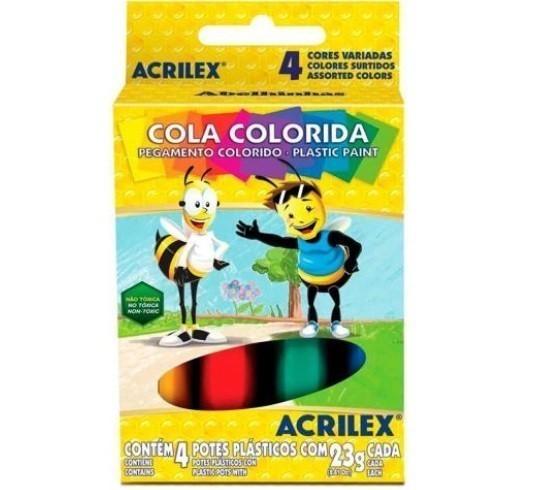 Cola Colorida 23g 4 Unidades SORTIDA - Acrilex