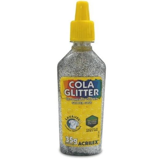 Cola Gliter 35g PRATA 202 - Acrilex