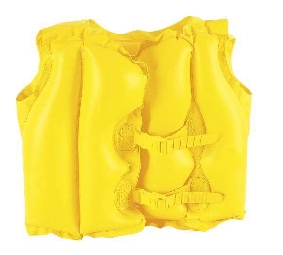 Colete Inflável Infantil Amarelo 51 x 41 cm 1822 - Mor