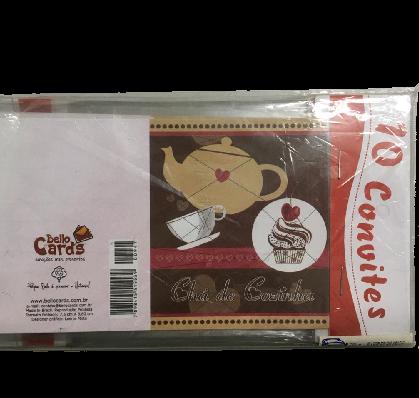 Cartão Convite Chá de Cozinha PT100