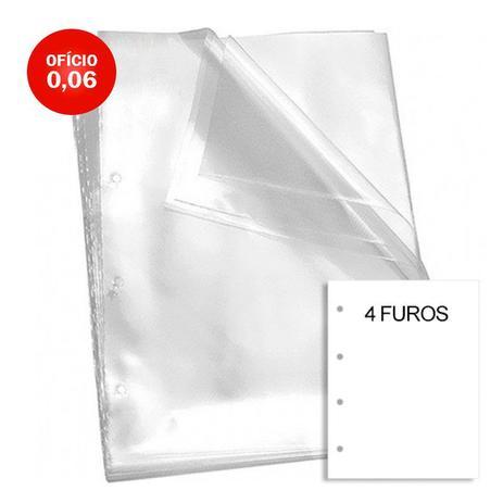 Envelope Plástico Oficio 006/100 com 4 Furos