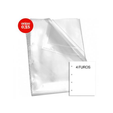 Envelope Plástico Oficio 015/100 com 4 Furos