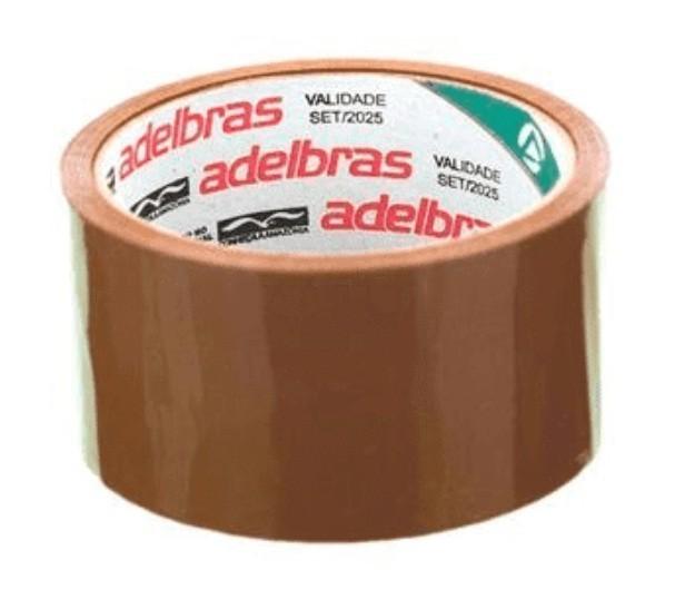 Fita para Embalagem 48 x 40 - MARRON - Adelbras (4 Unidades)