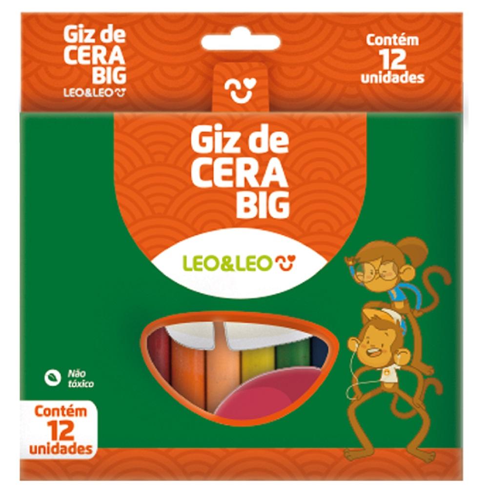 Giz de Cera Big com 12 cores (12 unidades)