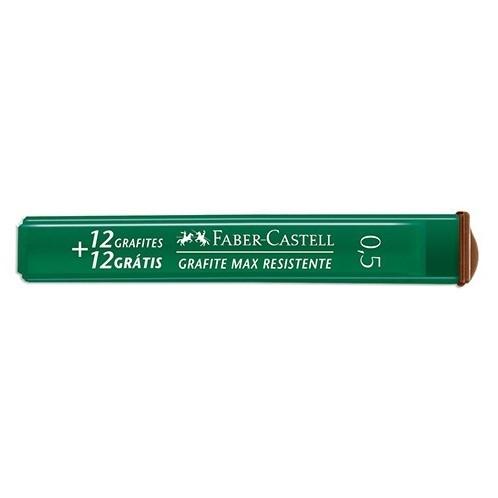 Grafite 0,5 B 12 Tubos com 24 Grafites + 2 Tubos B grátis - Faber Castell