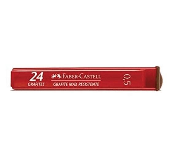 Grafite 0,5 HB 12 Tubos com 24 Grafites + 2 Tubos HB grátis - Faber Castell