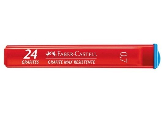 Grafite 0,7 B 12 Tubos com 24 Grafites + 2 Tubos B grátis - Faber Castell