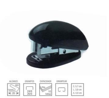 Grampeador Mini S5020b 26/6 PRETO 10 Folhas - Eagle