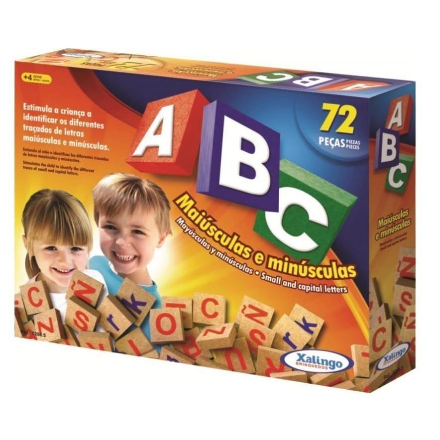 Jogo ABC em Madeira - Xalingo (72 peças)