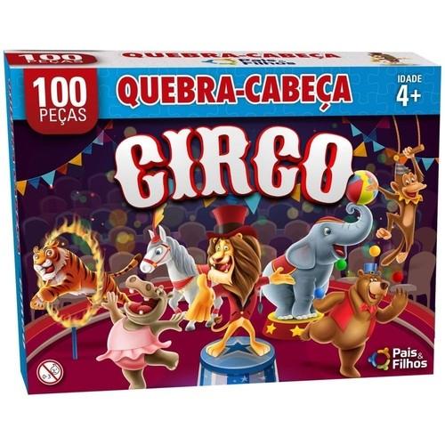 Jogo Quebra Cabeça o Circo 100 Peças
