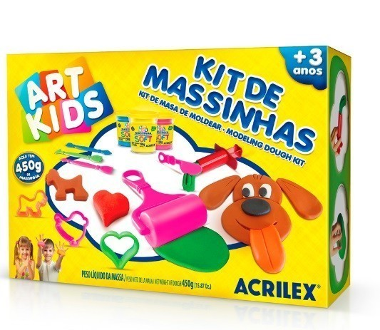Kit Massinha De Modelar 4  - 450g - Acrilex