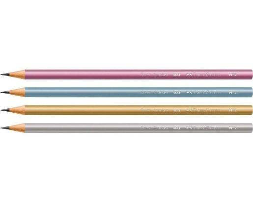 Lapis Preto Redondo Ecolapis Grafite Metallic - Faber-Castell (72 Unidades)